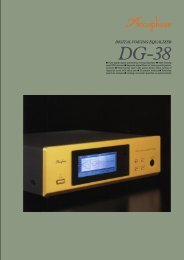 m Fully digital signal processing Voicing Equalizer m ... - Accuphase
