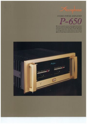 Accuphase Dp 65 Manual