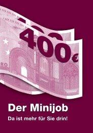 Der Minijob - Da ist mehr für Sie drin! - PIA Online
