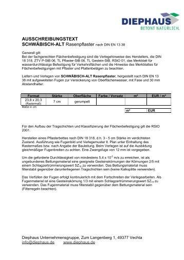 AUSSCHREIBUNGSTEXT SCHWÄBISCH-ALT - Diephaus