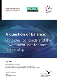 A question of balance: Principles, contracts and ... - Whitlam Institute