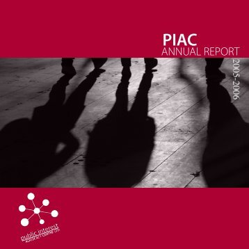 annual report 05-06 - Public Interest Advocacy Centre