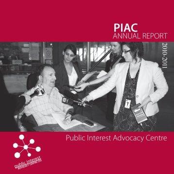 Annual report 2010 - Public Interest Advocacy Centre