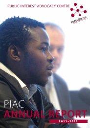 Annual report 2011 - 2012 - Public Interest Advocacy Centre