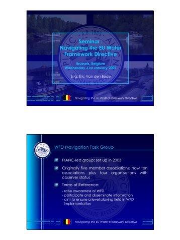 Seminar : Navigating the EU Water Framework Directive - pianc