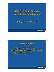 WFD Daughter Directive on Priority Substances Introduction - pianc