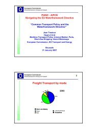 Common Transport Policy and the Waterframework Directive - pianc