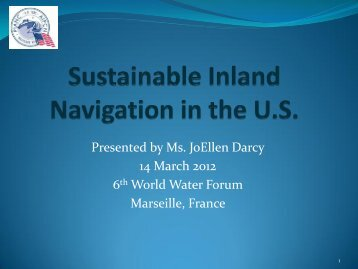 Sustainable Inland Navigation in the U.S. - pianc