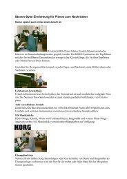 mehr… (PDF) - Pianohaus Hamann