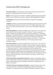 Herstellerinformationen (PDF) - Pianohaus Hamann