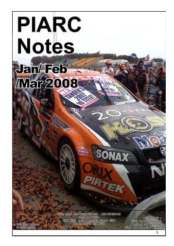 Jan-Feb-Mar 08 - Phillip Island Auto Racing Club