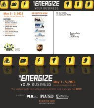 Energize - Printing Industries Association of Southern California