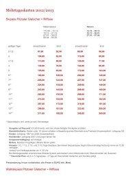 Mehrtageskarten 2012/2013 - Pia und Dirk