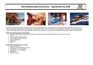 Ski & Boarderweek Val Thorens – Apartments Val 2400 - Pia und Dirk