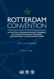text and annexes - Rotterdam Convention