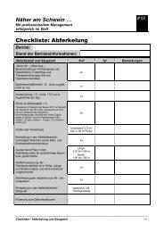 Checkliste: Abferkelung - PIC Deutschland GmbH