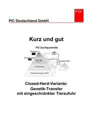 Kurz und gut - PIC Deutschland GmbH
