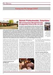 Betriebsreportage Pohlschneider, Osterfeine - PIC Deutschland GmbH