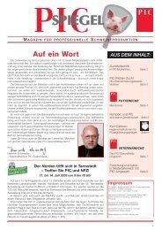 Pic-Spiegel 1/2003 - PIC Deutschland GmbH