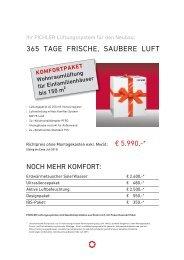 Aktion Komfortpaket - Pichler