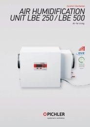 Comfort Ventilation Air for living. - Pichler