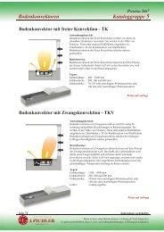 Kataloggruppe 5 Bodenkonvektoren - Pichler