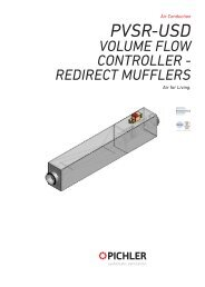 PVSR-USD volume flow controllers redirect mufflers - Pichler