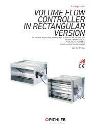 PVSR-E volume flow controller_rectangular - Pichler