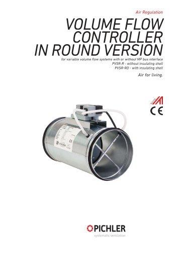 PVSR-R volume flow controller_round - Pichler