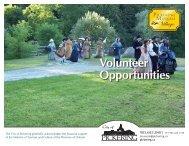 Volunteer Opportunities Booklet 2013 - City of Pickering