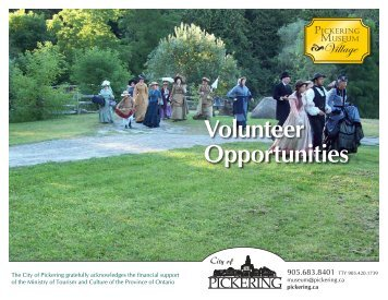 Volunteer Opportunities Booklet 2013 - City of Pickering