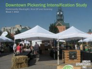 Downtown Pickering Intensification Study - City of Pickering
