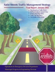 foreword - City of Pickering