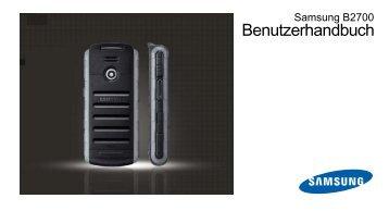 Samsung B2700 Bedienungsanleitung.pdf ... - Fonmarkt.at