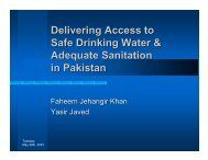 Delivering Access to Safe Drinking Water & Adequate Sanitation in ...