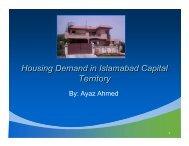 Housing Demand in Islamabad Capital Territory - Pakistan Institute ...