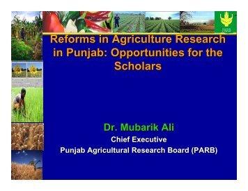 Opportunities for the Scholars - Pakistan Institute of Development ...