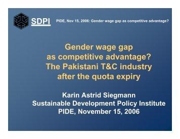 SDPI Gender wage gap as competitive advantage? - Pakistan ...