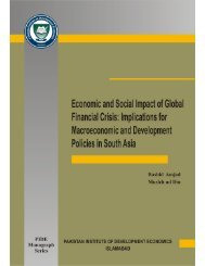 Economic and Social Impact of Global Financial Crisis - Pakistan ...