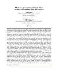 Macroeconomic Factors and Equity Prices - Pakistan Institute of ...