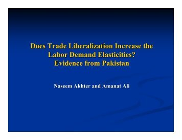 Does Trade Liberalization Increase the Labor Demand Elasticities ...
