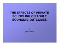 the effects of private schooling on adult economic outcomes