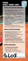 PIDING SPIELT TENNIS 2009!