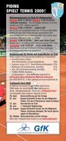 PIDING SPIELT TENNIS 2009! - Seite 2