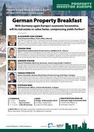 German Property Breakfast - Property Investor Europe