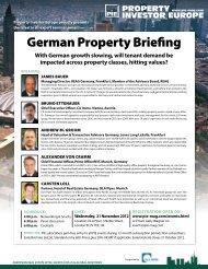 German Property Briefing - Property Investor Europe