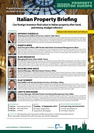 Italian Property Briefing - Property Investor Europe