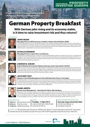 German Property Breakfast - Property Investor Europe