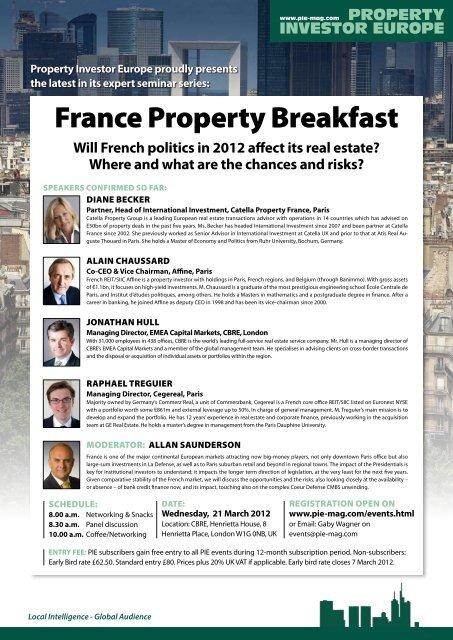 France Property Breakfast - Property Investor Europe