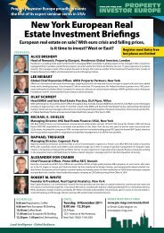 New York European Real Estate Investment Briefings - Property ...